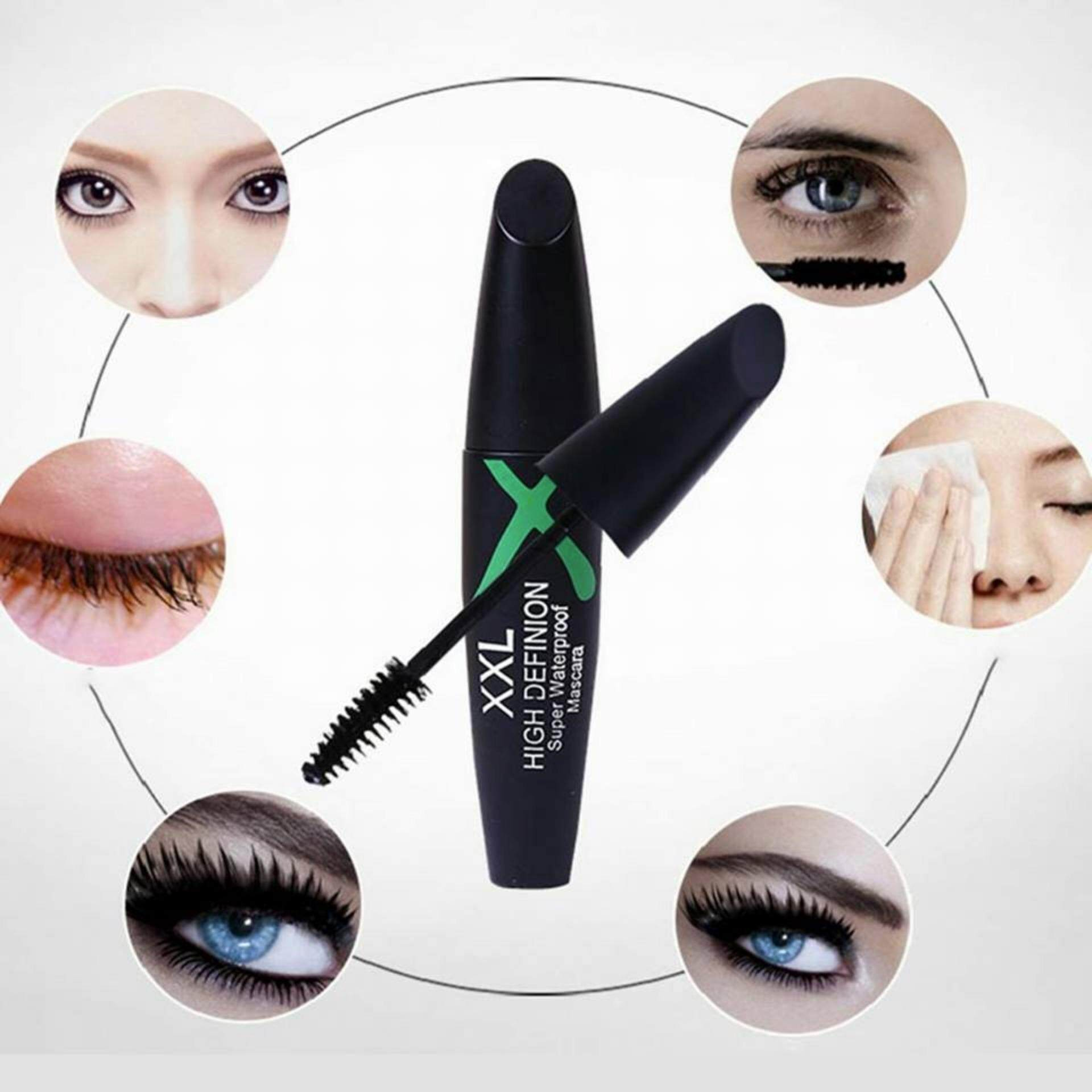 Waterproof Black Mascara Eyelash Extension Curling Length Beauty