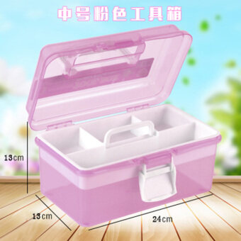 Wing Hi storage box plastic multi-layer storage box finishing box storage box cosmetic box medium and small nail Kit