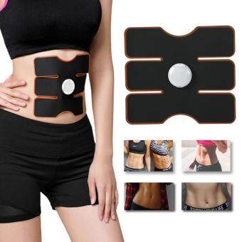 Wireless EMS Muscle Training Gear Arm Abdominal ABs Fitness PadBody Shaper Black