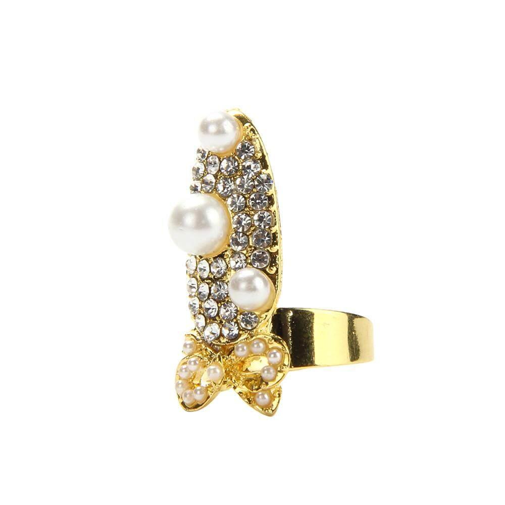 Flower crown kit diy price in singapore women fashion bowknot nail ring charm crown flower crystal finger nail rings intl izmirmasajfo