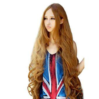 Harga Women Long Curly Wave Hair Wig Lolita Anime Wig Cosplay Hair Wig100cm