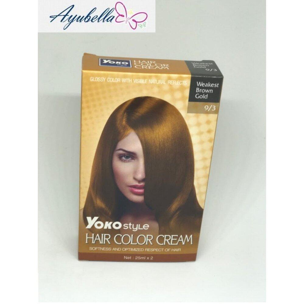 Yoko Style Hair Color Cream (Weakest Brown Gold) x 2