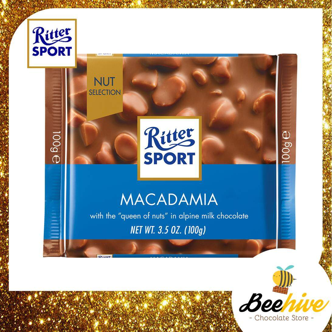 Ritter Sport Macadamia Chocolate 100g [Ice Cold Packs Included]