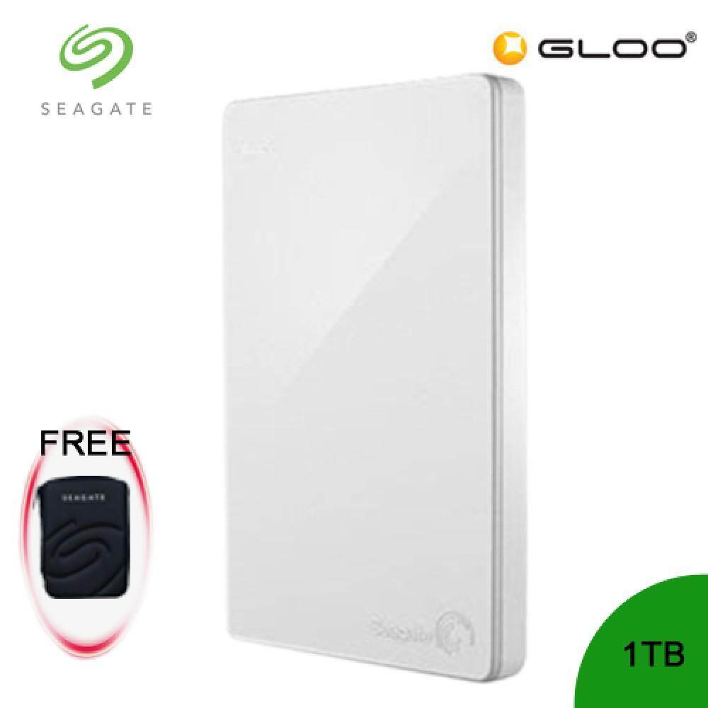 Seagate Backup Plus Portable Drive 2TB - White STDR2000306 [FREE Hard Pouch Casing]