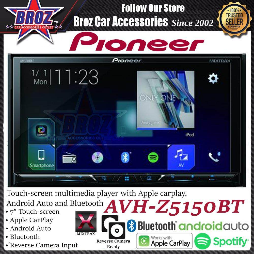 "Pioneer Z-Series AVH-Z5150BT 7"" Mutlimedia Apple CarPlay Bluetooth Android Auto"