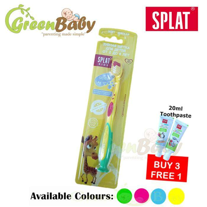 Splat Kids Soft Toothbrush (2-8 Years) (Buy 3 free 1unit of 20ml Toothpaste)