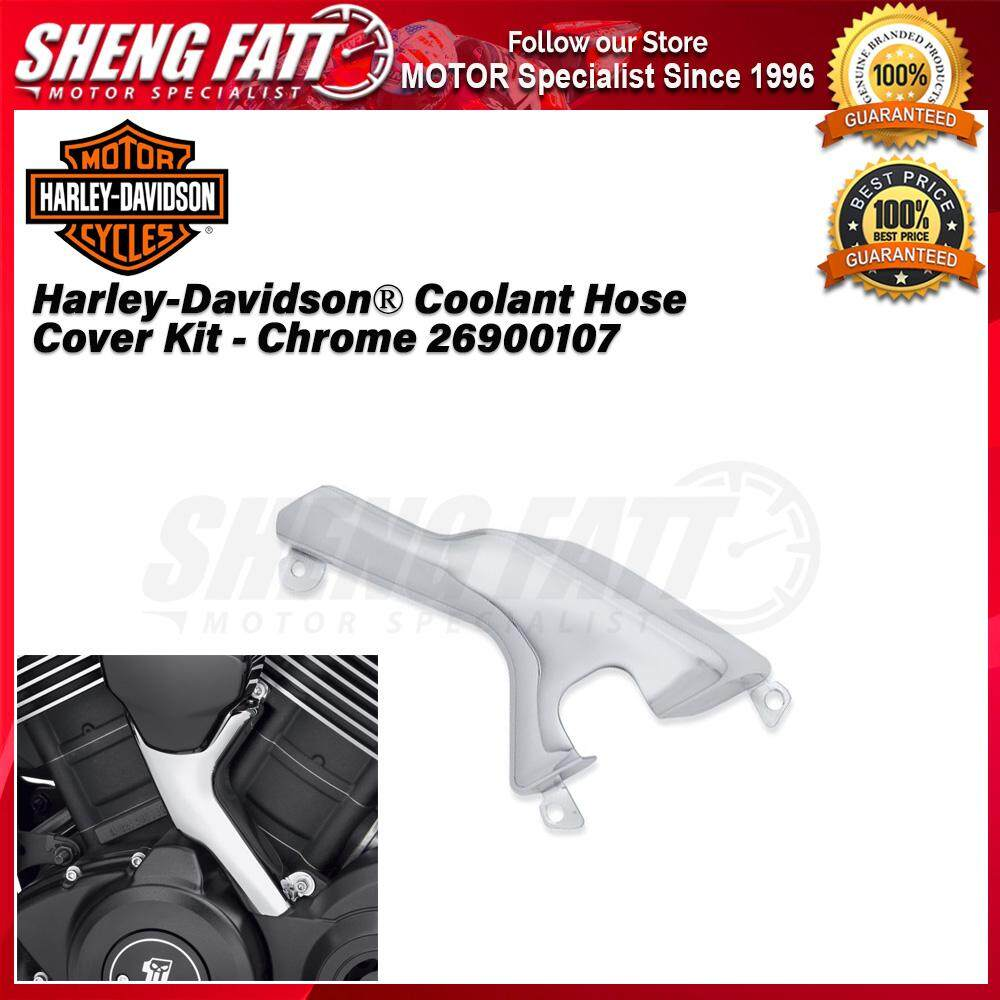 Harley-Davidson® Street™ Family Coolant Hose Cover Kit - Chrome 26900107