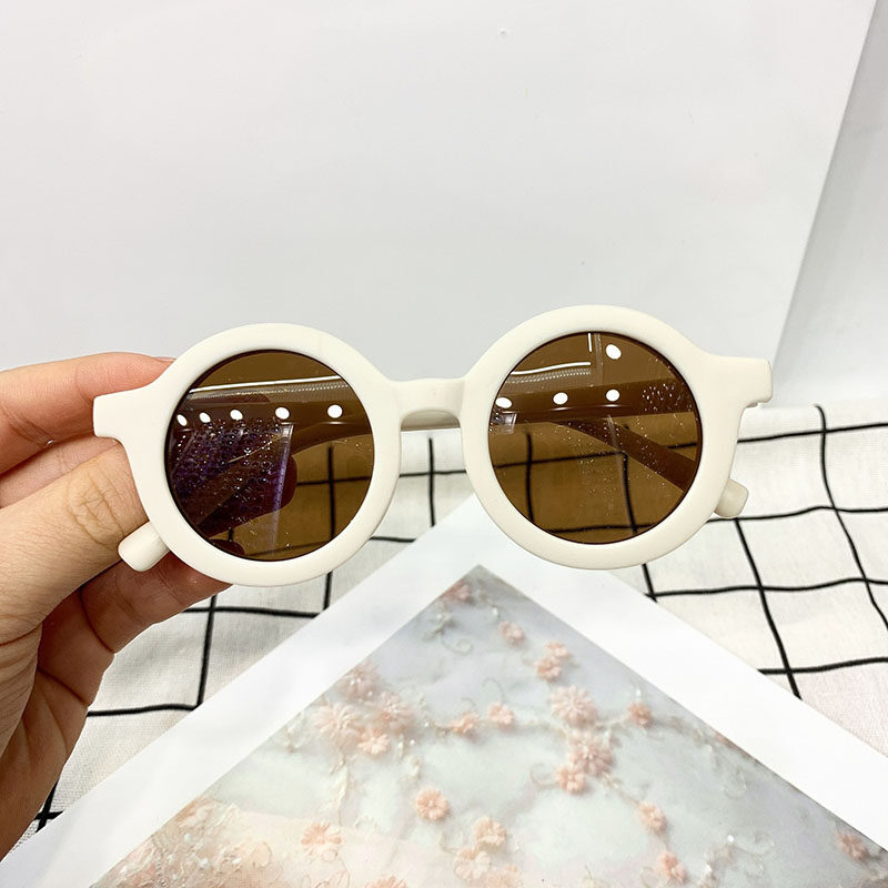 แฟชั่นเด็กแว่นกันแดดปกป้อง UV คลาสสิกเด็กแว่นตาเด็กแว่นตาสตรีทสไตล์การถ่ายภาพ Props