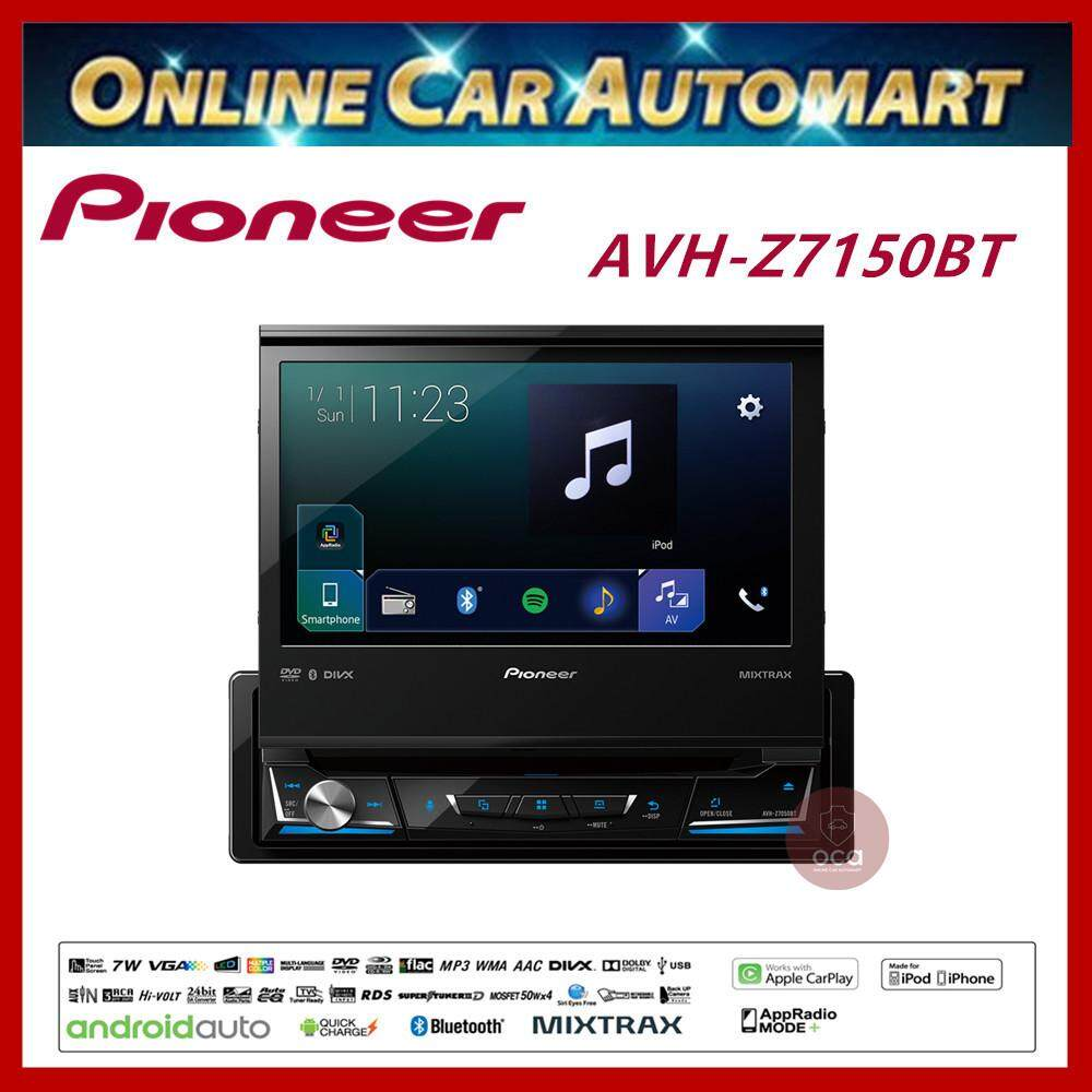 PIONEER Single Din DVD Player 7' Touch Screen SINGLE DIN APPLE CARPLAY  ANDROID AUTO BLUETOOTH FULL HD (AVH-Z7150BT)