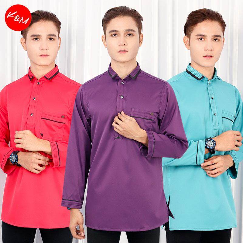KM Khairul Smart Collar Men Traditional Shirt [M19765]