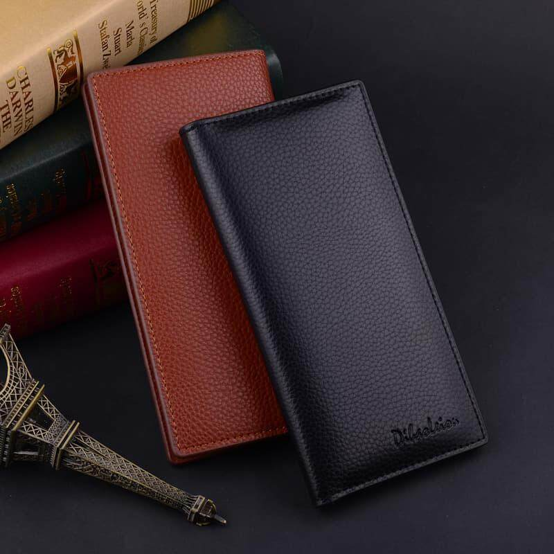 [M'sia Warehouse Direct] 2019 Korean Series Men's Fashion Multifunctional Luxury Long Purse Fengshui Portable Long Wallet With Zip Clutch Card Coin ID Lightweight Flexibility Genuine Leather Hand Carry Bag Perfect Gift For Love One Dompet Panjang Kulit