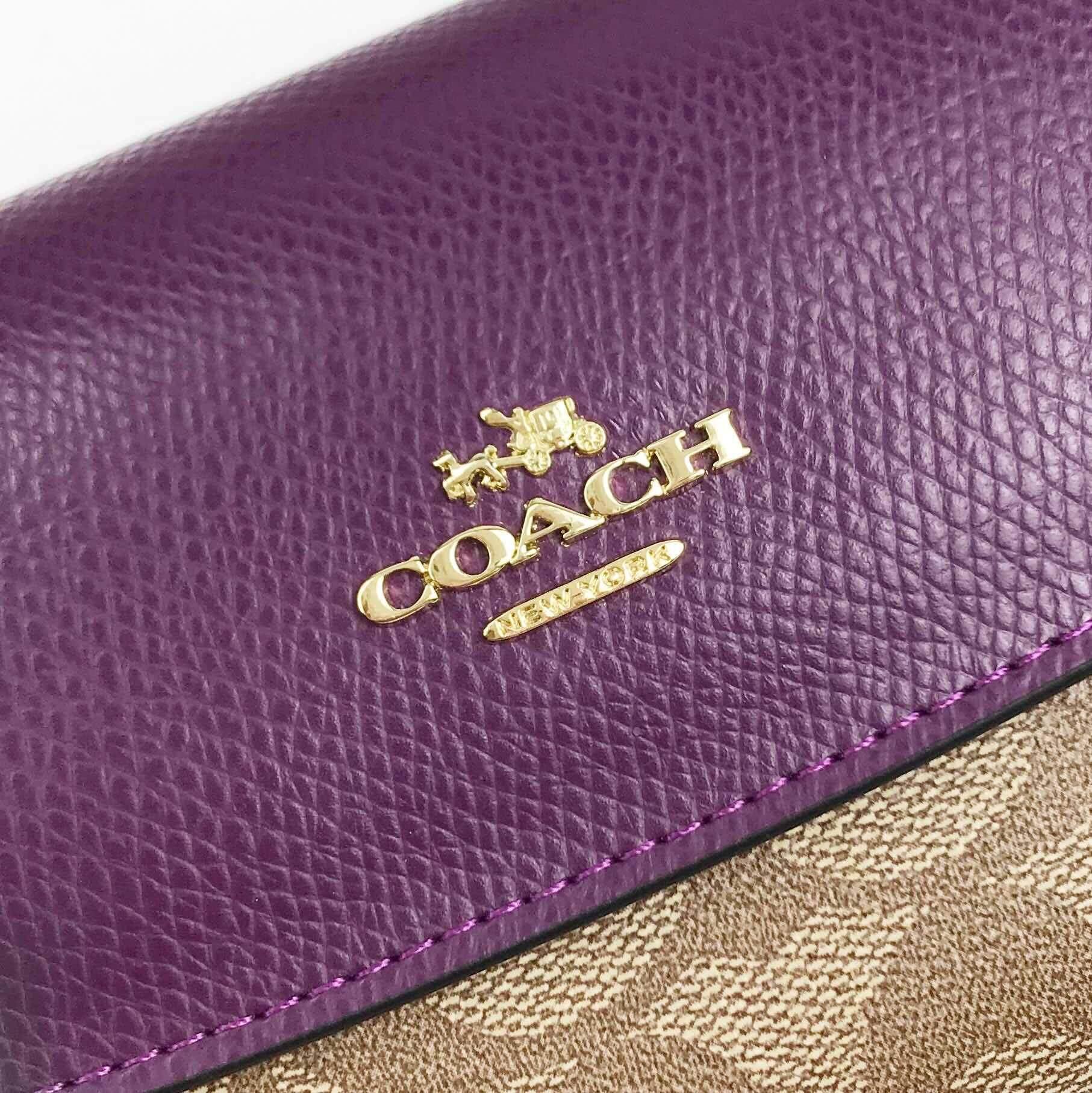 Coach Women Slim Envelope Wallet  (Purple)