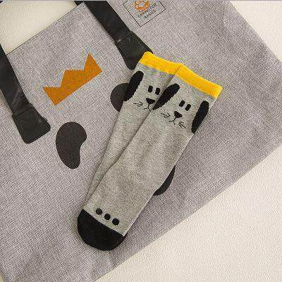 Kids Long Socks Knee Socks - Cute Puppy