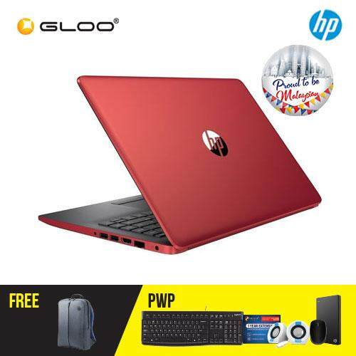 """NEW HP 14-ck0099TU / 14-ck010TU /14-ck0101TU 14"""" HD Laptop (i3-7020U, 1TB, 4GB, Intel® HD Graphics 620, W10) - (Black/Silver/Red) [FREE] HP Backpack [Redeem: RM50 Touch n Go credit - 17 Aug - 30 Sept 2019*]"""