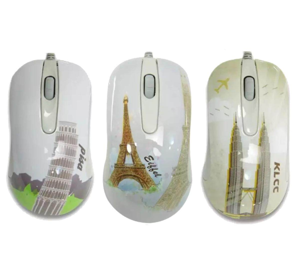 Enco Tower Series Optical Mouse Wired USB (Pica / Eiffel / KLCC Edition)