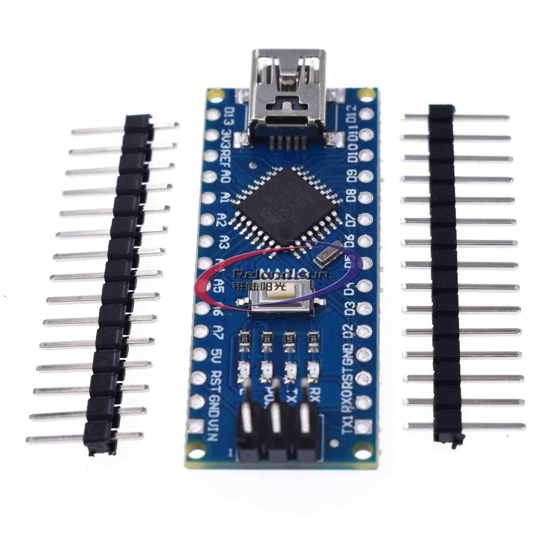 2 Chiếc Nano 3.0 V3.0 Bộ Điều Khiển Tương Thích Cho Arduino CH340 CH340G USB Driver ATmega328 Ban ATmega328P Không Cáp DIY