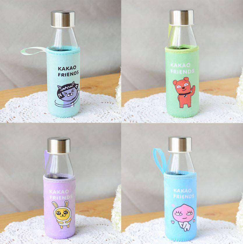 330 ml Glass Colourful Animal Cloth Cover Water Bottle ACC-048