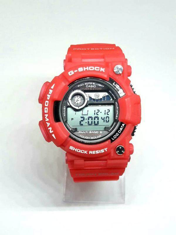 {1 Year Local Suplair Warrenty} Special Promotion New Sport Casio_G_SHOCK_Frogman Digital Time Display Fashion Casual Watch For Men Ready Stock 100% Mineral Glass New Design Full Set All Colour Available