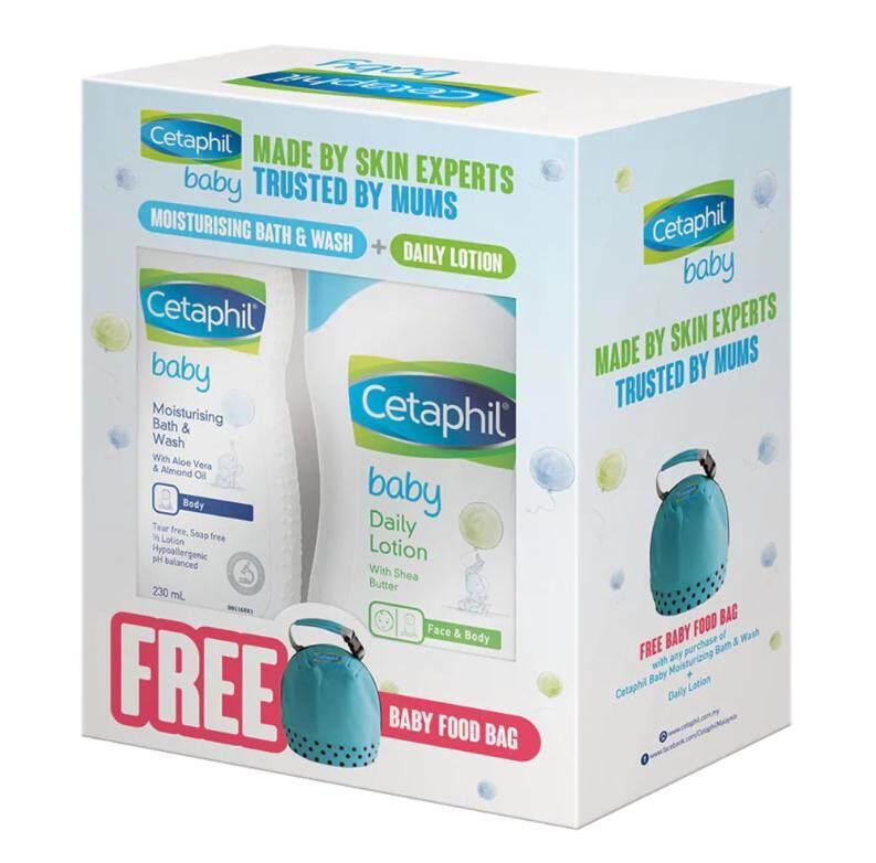 Cetaphil Baby Moisturizing Bath & Wash (230ml) + Daily Lotion (400ml) FREE BAG
