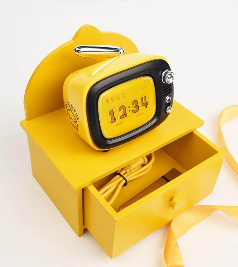 ยี่ห้อไหนดี  ตราด ใหม่ 2919 LOFREE ทีวี B. เป็ดบลูทูธขนาดเล็กสีเหลืองไร้สายแบบพกพาทีวีย้อนยุคการสร้างแบบจำลองลำโพงนาฬิกาปลุก