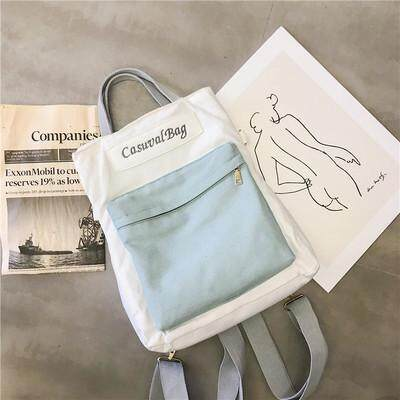 Women Korean Fashion Canvas Multipurpose 3 Way Messenger Bag