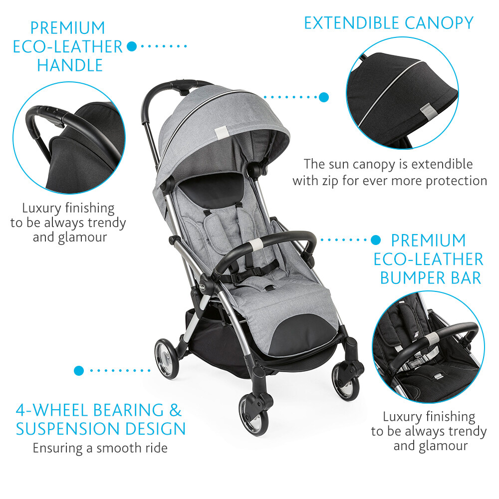 Chicco Goody Baby Stroller Cool Grey