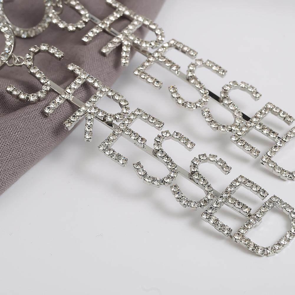 Bodhi Fashion Women Bahasa Inggris Huruf Stres Berlian Imitasi Anting Hias Yang Panjang Perhiasan - 2 ...