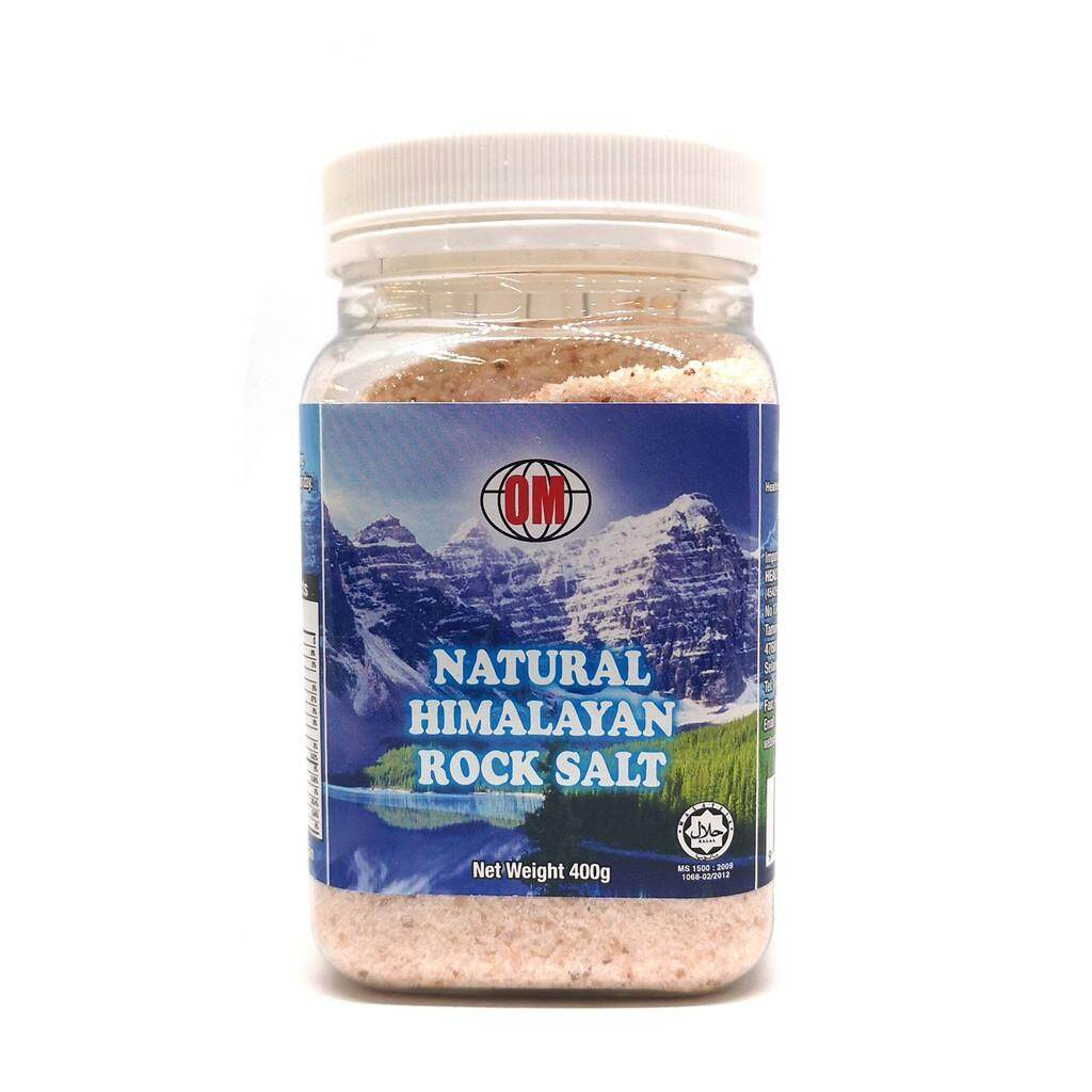 OM Natural Pink Himalaya Rock Salt Bottle 400gm non Iodized