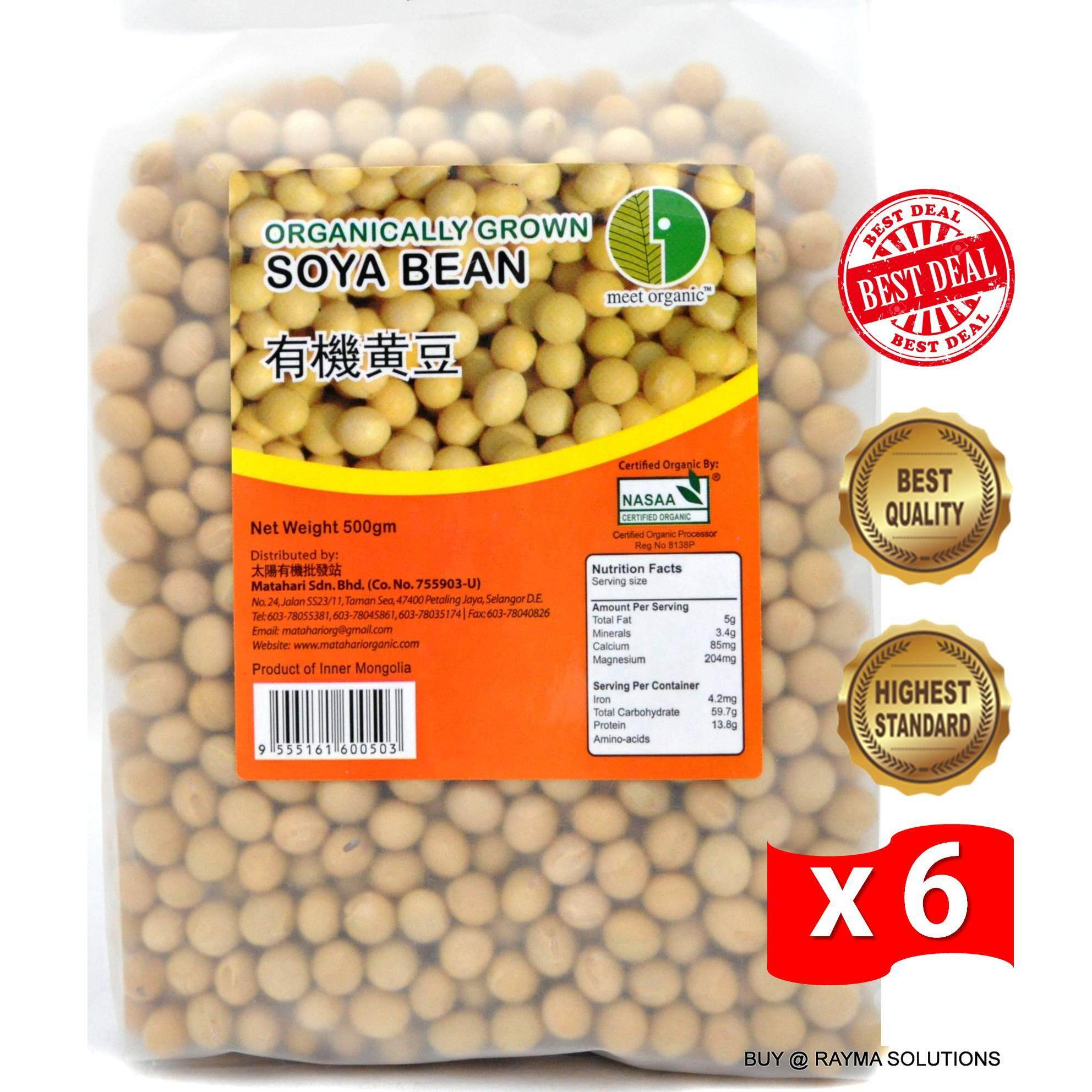 [BE$T Deal!] MH FOOD Organically Grown Soya Bean 500g (6 Packs)