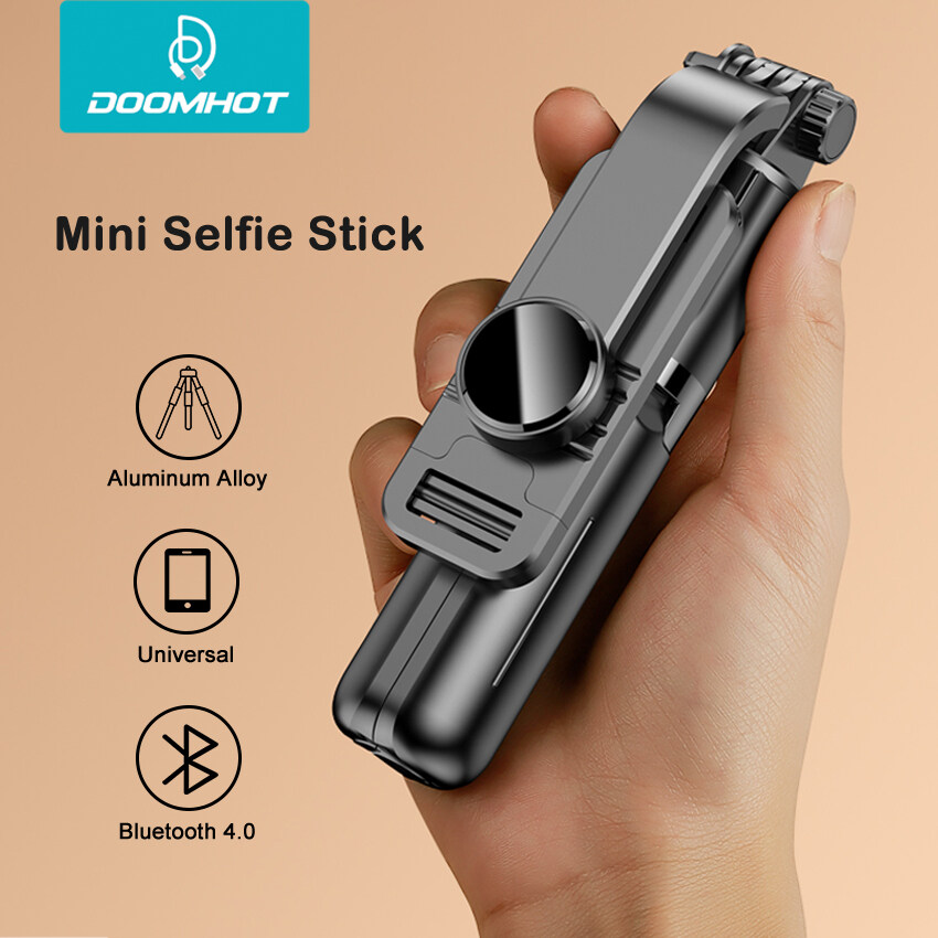 DoomHot โทรศัพท์มือถือขาตั้งโทรศัพท์ขาตั้งไม้ Selfie สำหรับกล้อง Mobile ขาตั้งกล้อง4.0บลูทูธรีโมทคอนโทรลปรับความสูงแบบพกพาขาตั้งกล้องสำหรับโทรศัพท์มือถือ/กล้อง