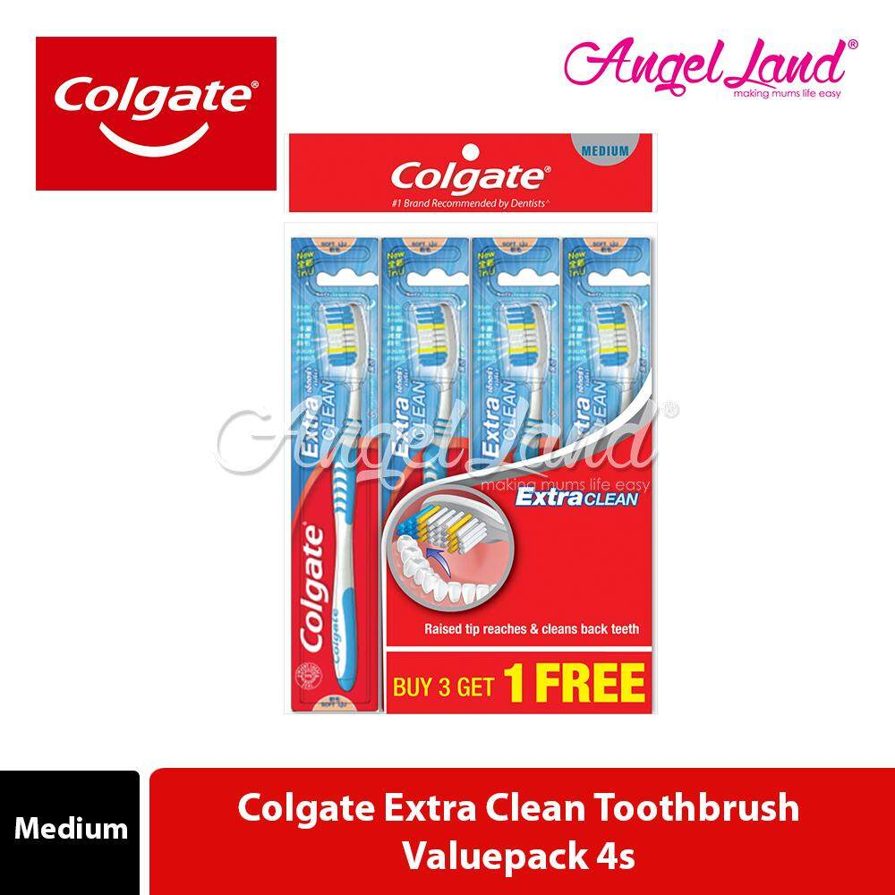 Colgate Extra Clean Toothbrush Valuepack 4s