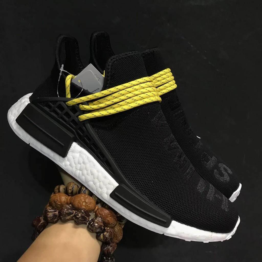 ยี่ห้อไหนดี  ราชบุรี ต้นฉบับ Pharrell x Adidas NMD Human Species สีดำรองเท้ากีฬาสำหรับผู้ชาย 40-44