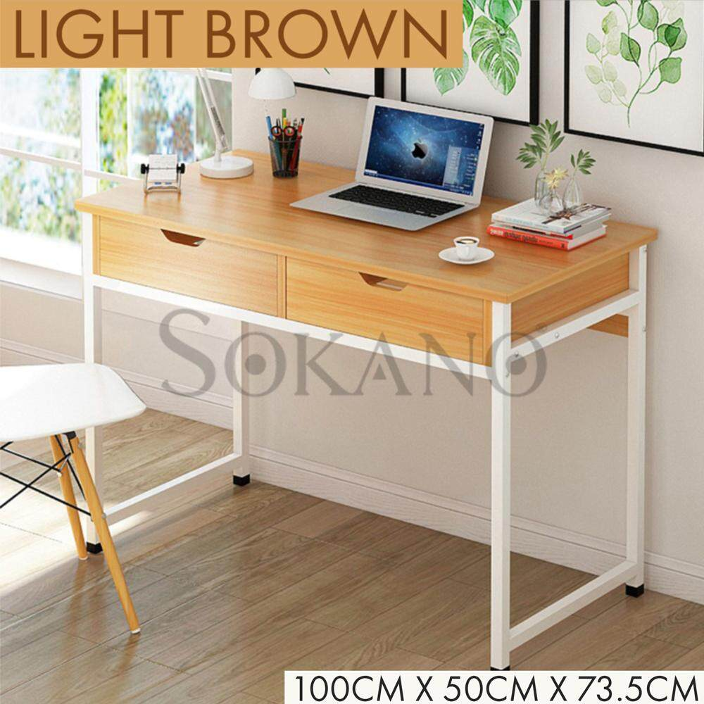 SOKANO N13 Simple Modern Computer Desk Study Table Laptop Table PC Table Home Office Table With Drawer