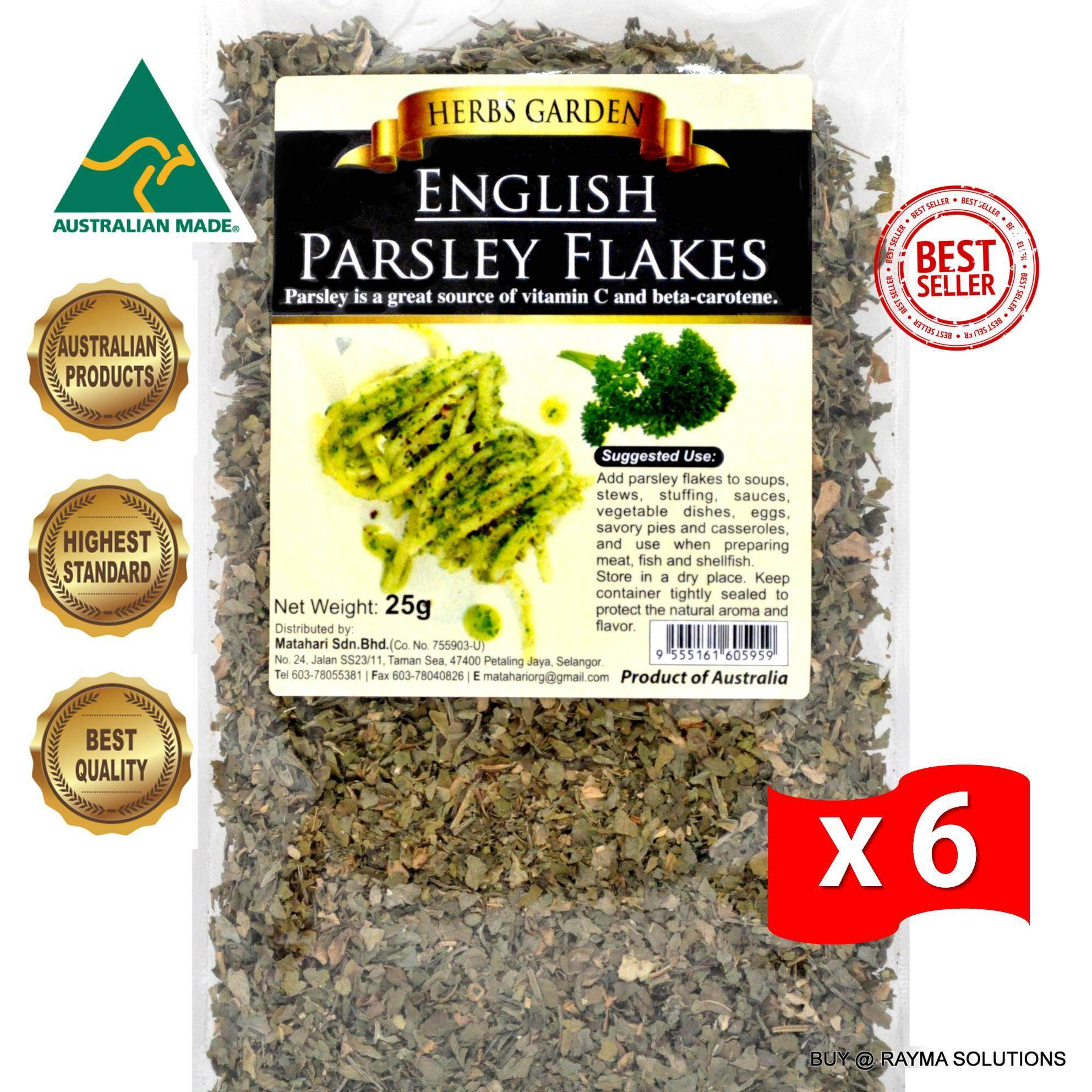 [Best Deal] MH FOOD Herbs Garden English Parsley Flakes 25g (6 Packs)