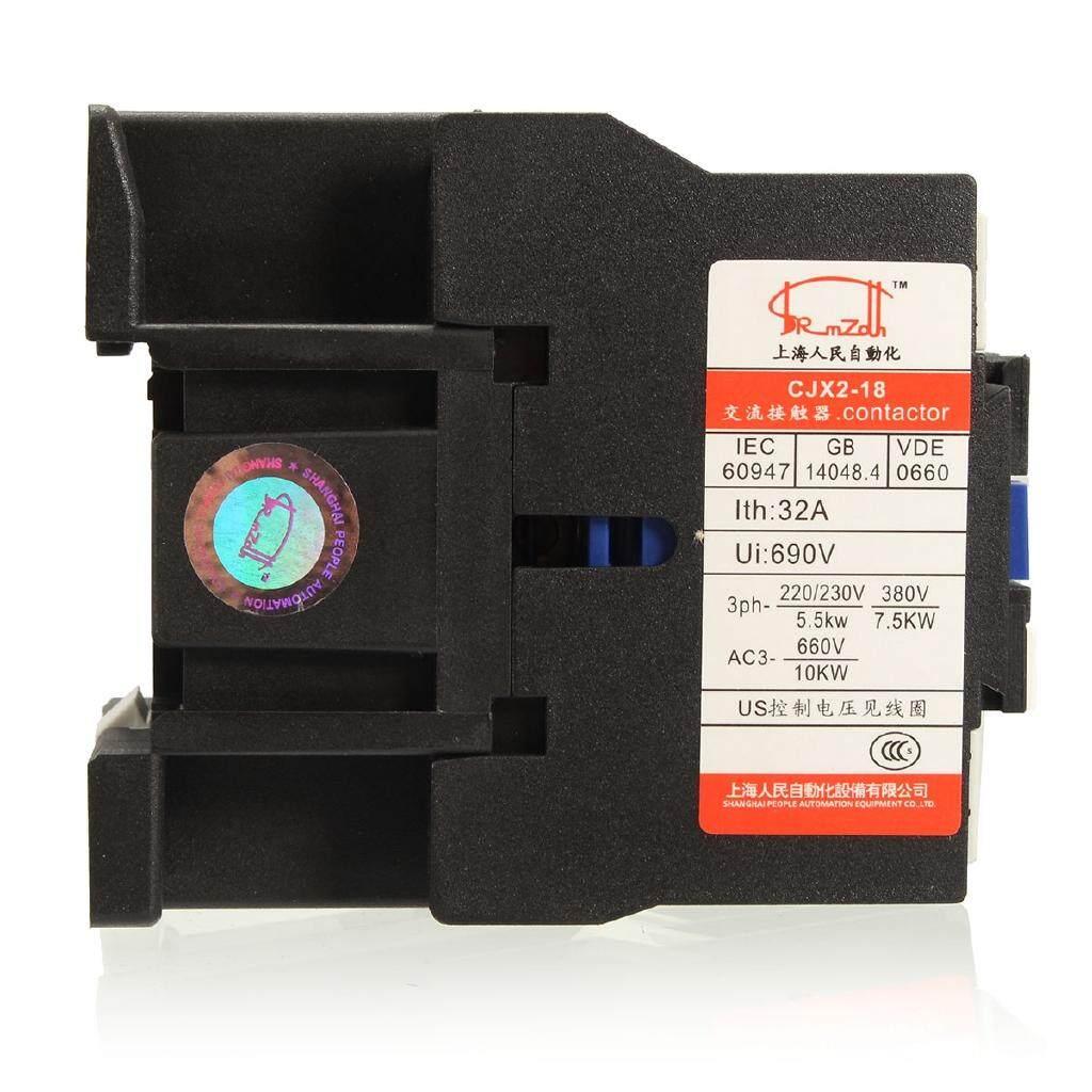 AC Contactor Motor Starter Relay CJX2-1801 3 POLE+1NC 220V/380V 18A COIL - 220V / 380V