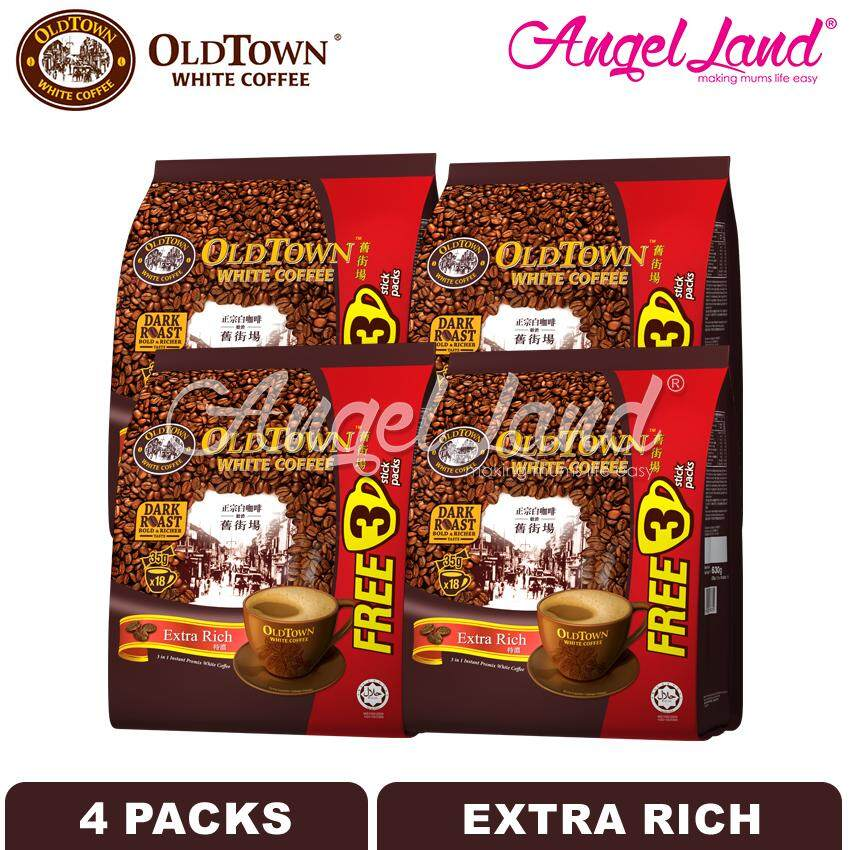 OLDTOWN White Coffee 3-in-1 Extra Rich Instant Premix White Coffee (15'S+3'S X 4 packs)