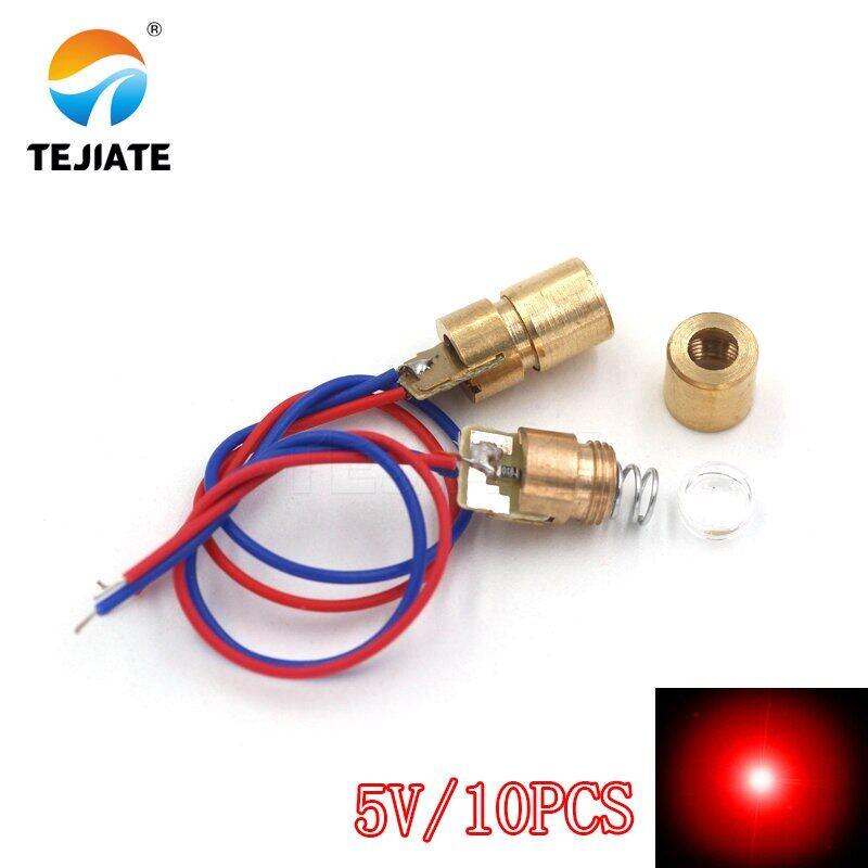 Đầu Laser Diode Laser Ống Laser Chữ Thập/Đường/Đường Kẻ Màu Đỏ 650nm 5MW, Mô-đun Cảm Biến Laser Hồng Ngoại Tiêu Cự Điều Chỉnh Được 3V/5V