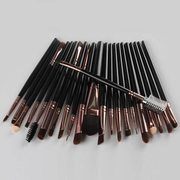 22 Pcs Nylon Eye Lip Makeup Brushes Set (Black)