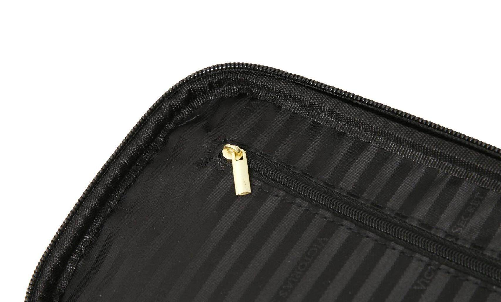 VS Pink White Stripes Cosmetic Train Case/ Makeup Bag