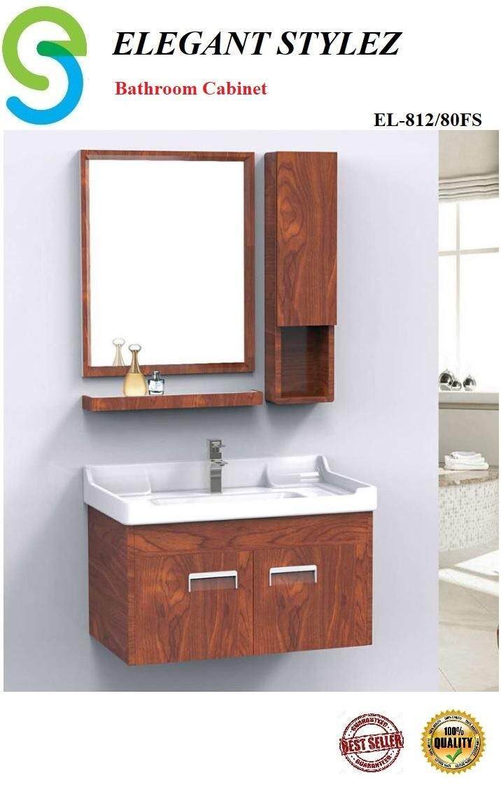 ELEGANT STYLEZ BATHROOM BASIN CABINET COMPLETE SET PACKAGE EL-812/80FS