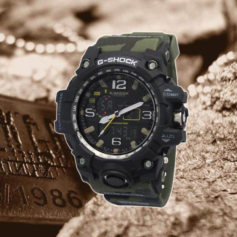 {SHOCKING DEAL} 100% NEW Sport Casio G-Shock_MudMaster Dw-1523NB Dual Time Display Good Quality Rubber Strip Long Life Battery Fashion Come With Own Gift Box For Men