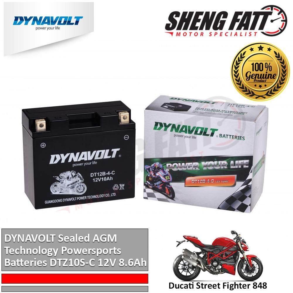Ducati Street Fighter 848 DYNAVOLT Sealed AGM Technology Powersports Batteries DT12B-4-C 12V 10Ah