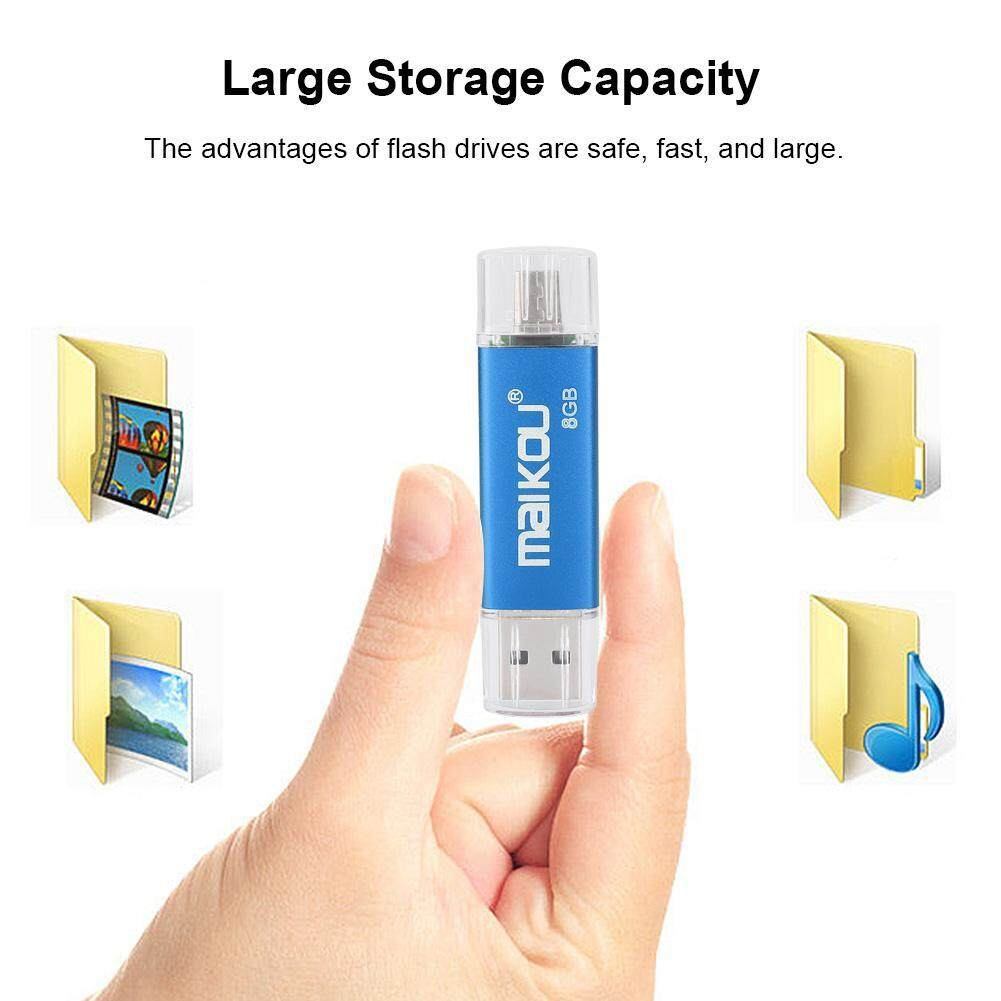 Storage & Hard Drives - High USB Disk Memory Flash Portable Speed 2 Drive OTG Blue 0 Dual-use U Stick - [8G / 16G / 32G / 64G / 128G]