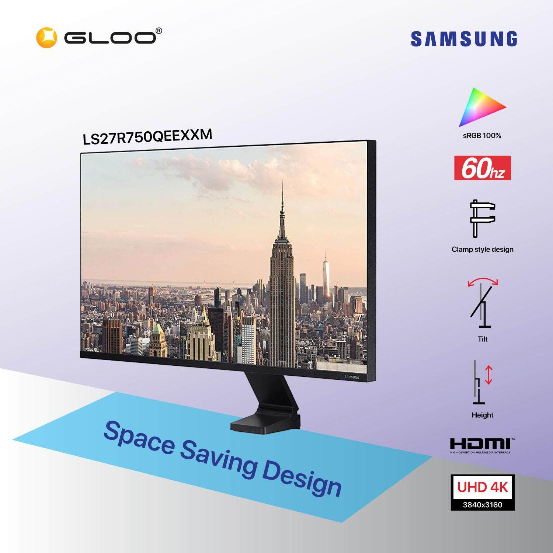 "Samsung Space Monitor 27"" UHD Monitor LS27R750QEEXXM"