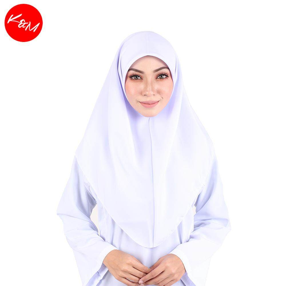 KM White Tudung Uniform School [M13952]