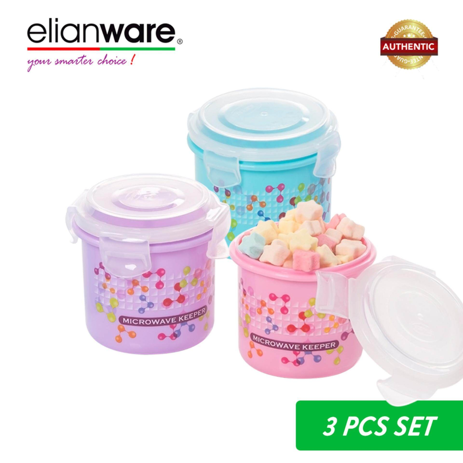 Elianware 400ml Ezy-Lock 100% Airtight Neutron Round Food Containers