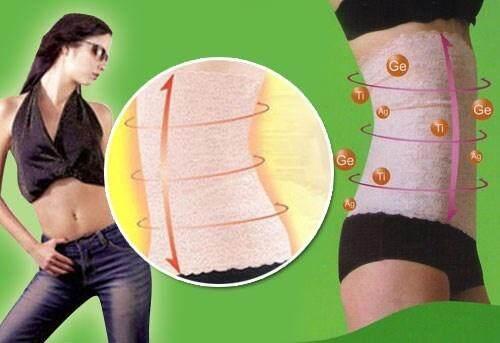 My BeautyPlan High Quality Lace UltraSlim Corset Body Shaping Waist Girdle Tummy Control Slimming Belt Shape Wear (L size)