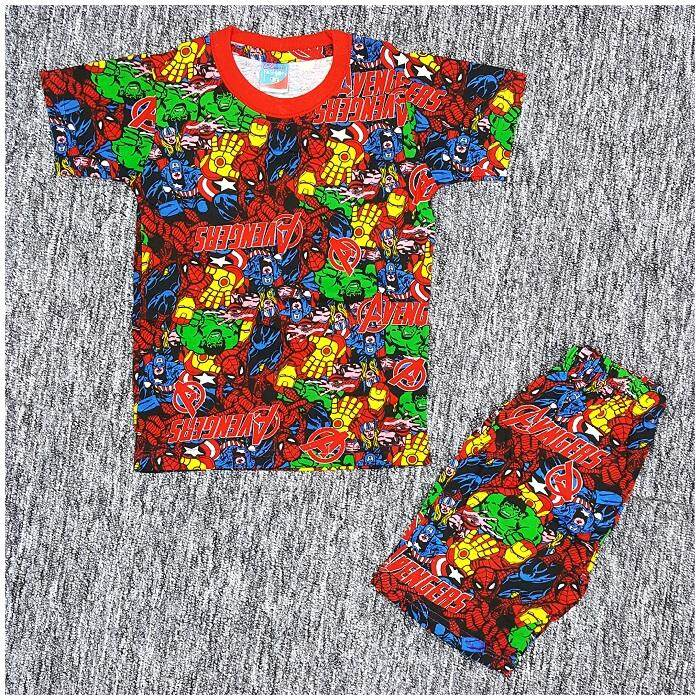 Avengers Poli Kids Boy Short Sleeve Set