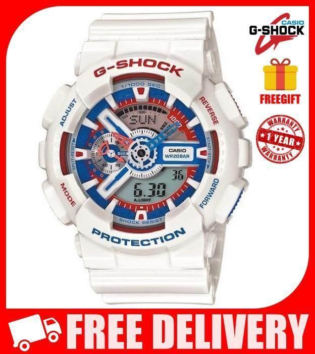 [FREEGIFT] GA-110TR-7A BLUE RED G CASIO SHOCK_Men's Sports Watch Waterproof Dual Display GA110TR-7A GA110 GA-110