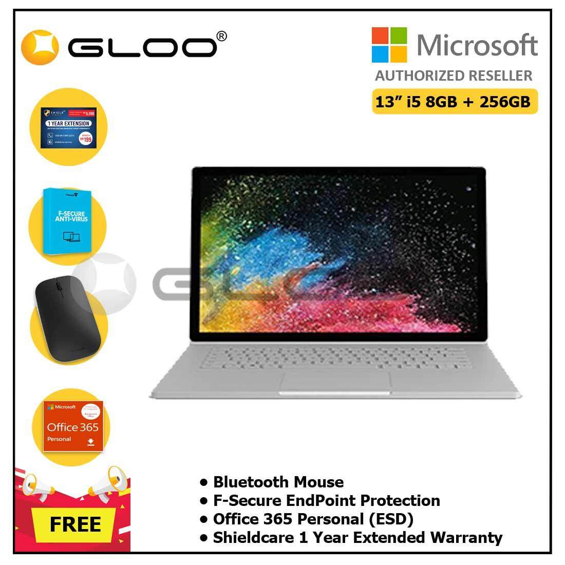"""Microsoft Surface Book2 13"""" Core i5/8GB RAM - 256GB + Shieldcare 1 Year Extended Warranty + Office 365 Personal ESD + Bluetooth Mouse"""